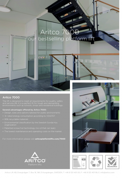 Plattformshiss A 7000 0,15 m/s Aritco